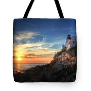 Sunset Glow At Bass Harbor Tote Bag