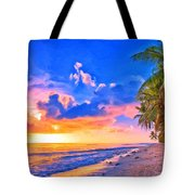 Sunset Glow On The Kona Coast Tote Bag