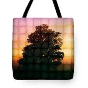 Sunset Grid 2 Tote Bag