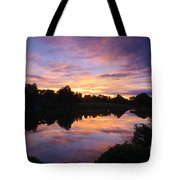 Sunset II At Japanese Garden Tote Bag