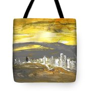 Sunset In Benidorm Tote Bag