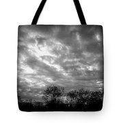 Sunset In Black And White Tote Bag