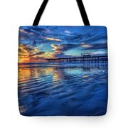 Sunset In Blue Tote Bag