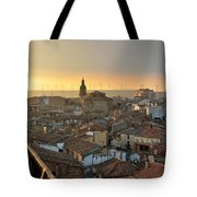 Sunset In Calahorra From The Bell Tower Of Saint Andrew Church Tote Bag