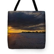 Sunset In Cape May Along The Beach Tote Bag