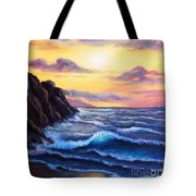 Sunset In Colors Tote Bag