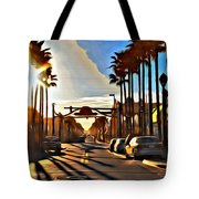Sunset In Daytona Beach Tote Bag