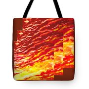 Sunset In Desert Abstract Collage  Tote Bag