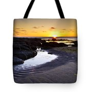 Sunset In Iceland Tote Bag