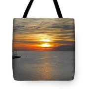Sunset In Koper Tote Bag