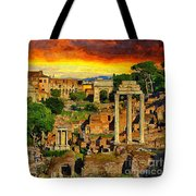 Sunset In Rome Tote Bag by Stefano Senise