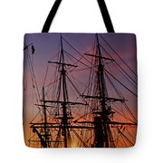 Sunset In San Diego Harbor Tote Bag