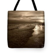 Sunset In Sepia Tote Bag