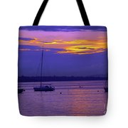 Sunset In Skerries Harbor Tote Bag