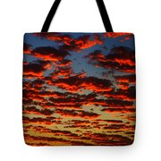 Sunset In The Clouds Tote Bag
