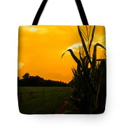 Sunset In The Cornfield Tote Bag
