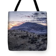 Sunset In The Davis Mountains Tote Bag