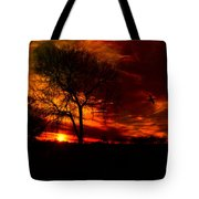 Sunset In The Field Tote Bag