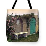 Sunset In The Garden Tote Bag by Terry Reynoldson