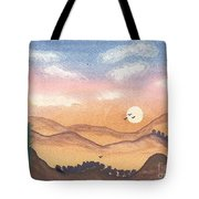 Sunset In The Hills Tote Bag