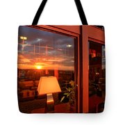 Sunset In The Lobby Tote Bag