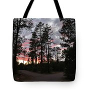 Sunset In The Pines Tote Bag
