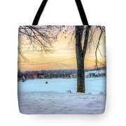Sunset In The Snow Tote Bag