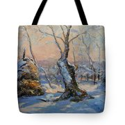 Sunset In The Winter Tote Bag