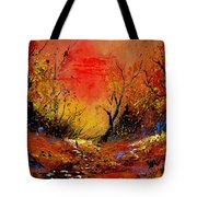 Sunset In The Wood Tote Bag