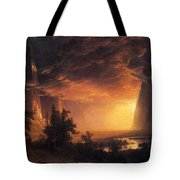 Sunset In The Yosemite Valley Tote Bag