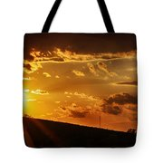 Sunset In Vernon County Tote Bag