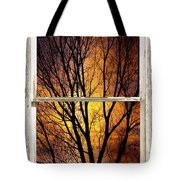Sunset Into The Night Window View 3 Tote Bag