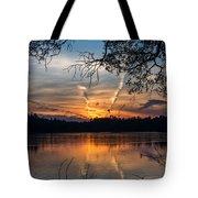 Sunset Lake Horicon Lakehurst New Jersey Tote Bag