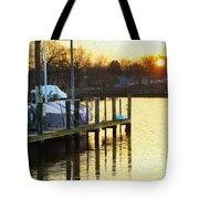 Sunset Marina Tote Bag