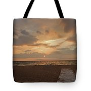 Walkway To The Sunset Tote Bag