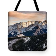 Sunset Mountains Tote Bag