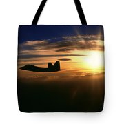 Sunset Of The Raptor Tote Bag