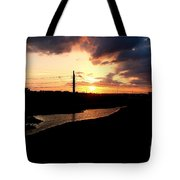 Sunset Of The Trinity River Tote Bag