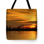 Sunset - Ohio River Tote Bag by Sandy Keeton