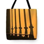 Sunset On A Bridge Tote Bag