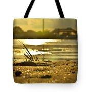 Sunset On A Sandy Beach Tote Bag