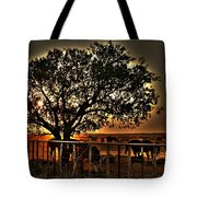 Sunset On A Texas Drought Tote Bag