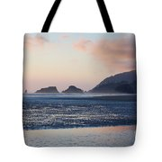 Sunset On Cannon Beach Tote Bag