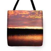 Sunset On Cayuga Lake Cornell Sailing Center Ithaca New York II Tote Bag
