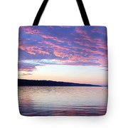 Sunset On Cayuga Lake Cornell Sailing Center Ithaca New York Tote Bag