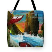 Sunset On Earth Twenty Eight Days After People Tote Bag