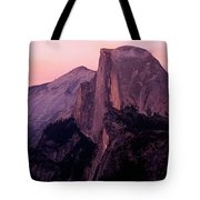 Sunset On Half Dome As Seen Tote Bag
