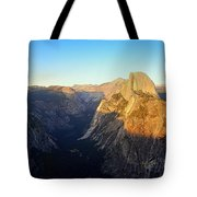 Sunset On Half Dome In Yosemite Tote Bag