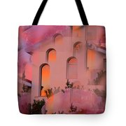 Sunset On Houses Tote Bag