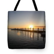 Sunset On Key Largo Tote Bag